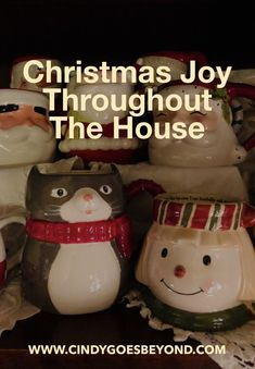 Christmas Joy Throughout the House - Cindy Goes Beyond Christmas Decorating 5 Daily Gratitudes Christmas Joy Decorating for Christmas with What You Have Gratitude, Christmas Decorations, Decorating Ideas, Joy, House, Be Grateful, Christmas Decor, Haus, Ornaments