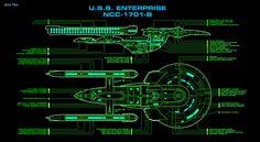U.S.S. Enterprise, NCC-1701-B, Excelsior Class (converted)