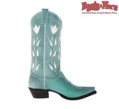 Ladies Justin Vintage Turquoise Goat VJL450 [VJL450] - $239.99 : Boots & More: Top Notch Boots at Rock Bottom Prices, We Price Match