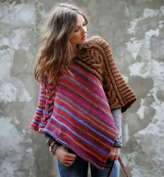 Poncho - easy - 2 rectangles sewn together! The possibilities are endless!