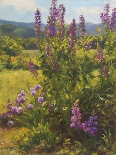Susan Jositas - Sunshine and Lupine- Oil - Painting entry - March 2016 | BoldBrush Painting Competition