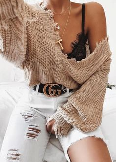 MORE PICTS You can also see more ideas about girly outfits grunge , girly outfits autumn , girly outfits for teens , girly outfits hijab , s. Trendy Fall Outfits, Winter Fashion Outfits, Mode Outfits, Girly Outfits, Cute Casual Outfits, Look Fashion, Fashion Clothes, Stylish Outfits, Summer Outfits