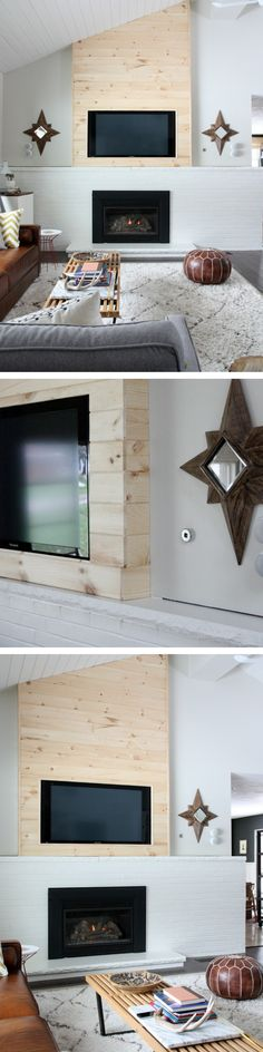 A designer-worthy DIY to camouflage the TV