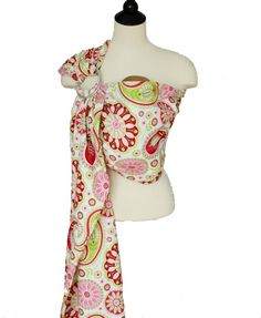 Baby Carrier Ring Sling Baby Sling - Strawberry Shortcake - FAST SHIPPING - Instructional DVD Included