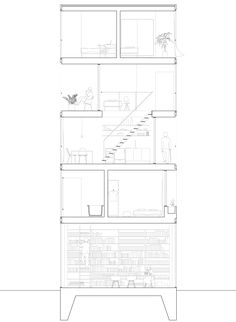 Architectural Drawing Window opening window on elevation - recherche google | architecture