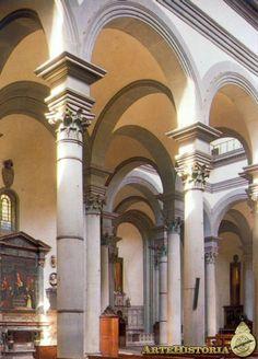BRUNELLESCHI. Iglesia del Santo Spirito (Florencia). 1434.