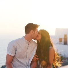 Sunset Kisses | Santorini, Greece | #kychelletravels