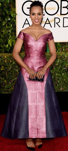 VISIT FOR MORE Kerry Washington annual Golden Globe Awards arrivals (January The post Kerry Washington annual Golden Globe Awards arrivals (January appeared first on Fashion design. African Fashion Ankara, African Print Dresses, African Print Fashion, Africa Fashion, African Dress, African Attire, African Wear, African Women, Robes Glamour