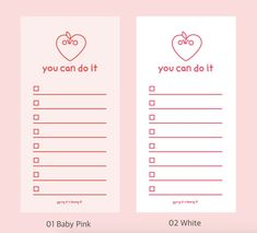 You Can Do it Notepad / Checklist Notepads / Peach Notepad /