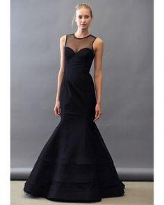 Noir by Lazaro, Spring 2013, Elegant black bridesmaid Dresses