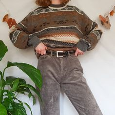The loveliest true vintage winter jumper from -. Retro Outfits, Grunge Outfits, Cool Outfits, Vintage Outfits, Casual Outfits, Vintage Fashion, Fashion Outfits, Style Grunge, Grunge Look