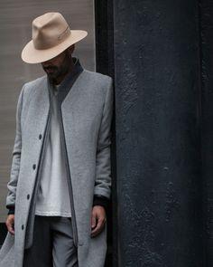 that jacket // menswear, mens style, fashion, hat, nordic, scandinavian, hat, street style, grey, gray