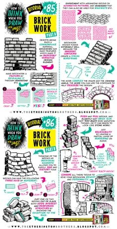 Today's tutorial looks at How to THINK When you DRAW in in which I explain how to think in three dimensions, and give more depth to every. How to draw in THREE DIMENSIONS tutorial 3d Drawing Techniques, Drawing Skills, Drawing Lessons, Drawing Tips, Drawing Reference, Landscape Drawing Tutorial, 3d Drawing Tutorial, Landscape Drawings, Draw Bricks