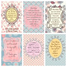 9 Best Images of Free Scripture Printables - Free Printable Scripture Bible Cards, Printable Bible Verses and Bible Verse Printables Free Printable Bible Verses, Scripture Cards, Bible Scriptures, Bible Quotes, Prayer Cards, Prayer Box, Printable Quotes, Bible Art, Encouragement Quotes