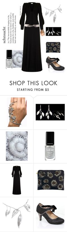 """""""Silver Leaf Romance"""" by vlmhark ❤ liked on Polyvore featuring NOVICA, Londontown, Ghost and Forest of Chintz"""