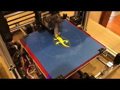 This is a Cartesian style printer based on the popular Open Source RepRap Prusa design by Josef Prusa. Further inspiration for the design came from the Folger. Prusa I3, 3d Printer Designs, Stepper Motor, 3d Projects, Open Source, Folded Up, Poker Table, 3d Printing, Popular