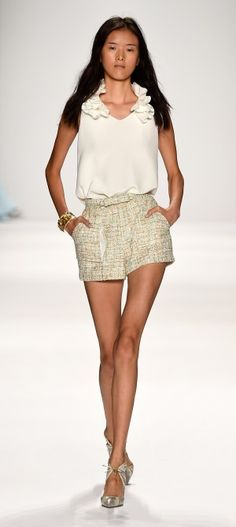NY: Badgley Mischka - Runway - Mercedes-Benz Fashion Week Spring 2015