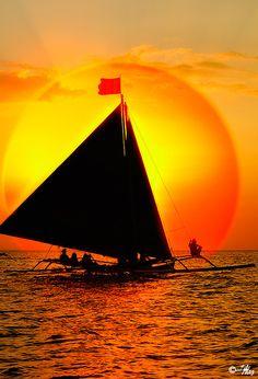 """Sundown"" by MalNino (VN Malazarte) on flickr | Sunset in Boracay, Philippines"