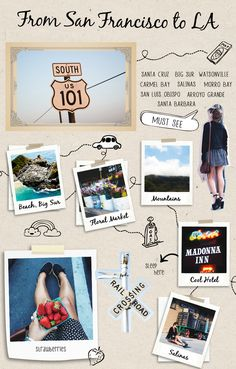 USA ROAD TRIP GUIDE II - Collage Vintage
