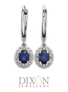 Custom Blue Sapphire and Diamond Drop Earrings Diamond Drop Earrings, Sapphire Earrings, Portfolio Design, Custom Jewelry, Blue Sapphire, Belly Button Rings, Custom Design, Brooch, Jewels