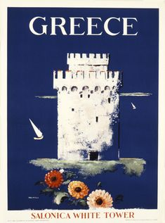 Buy online, view images and see past prices for Original Vintage Greek Travel Poster Salonica. Invaluable is the world's largest marketplace for art, antiques, and collectibles. Old Posters, Vintage Travel Posters, Vintage Ads, Greece Tourism, Greece Travel, Tourism Poster, Poster Ads, Pub, Greek Art