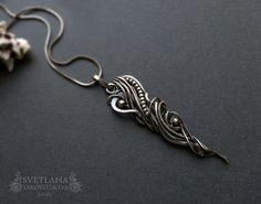 Wire wrap silver pendant Silver set Silver от sweetsjewelryshop