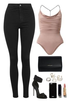 """""""."""" by owl00 ❤ liked on Polyvore featuring Miss Selfridge, Topshop, Givenchy, Giuseppe Zanotti and Chanel"""