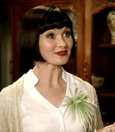 "Blossoms True! ~ Phryne Fisher (Essie Davis) ~ Miss Fisher's Murder Mysteries ~ ""Murder On The Ballarat Train"" ~ Season 1 Episode 2"