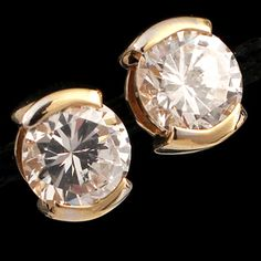 Shop 14KY 2.50ctw CZ Rd Stud Earrings and other jewelry, art, coins, rugs and real estate at www.aantv.com