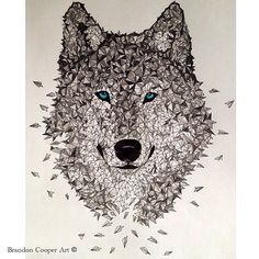 Polygon Wolf By @brandon__cooper _ Also check our fellow art page @art_spotlight by arts.gallery