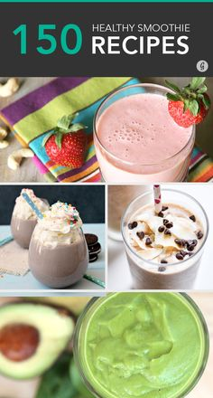 150+ Smoothies That Make the Perfect Portable Meal #healthy #smoothie #recipes