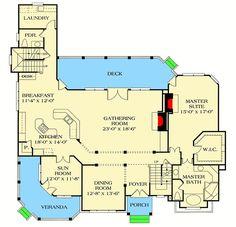Corner Veranda a Nice Touch - 1747LV | Architectural Designs - House Plans