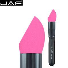 Retail JAF Non-Latex Foundation Makeup Sponge Eco Blender Beauty Cosmetics Egg Puff Make Up Sponge Brush 16HXP-B