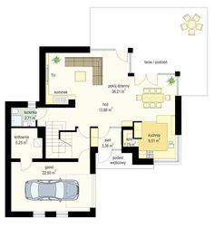 Projekt domu Viking 2 - rzut parteru