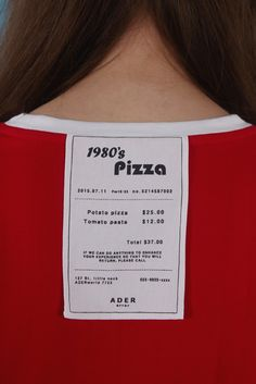 80s Pizza Receipt 'But near missed things' www.adererror.com