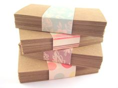 kraft paper business cards