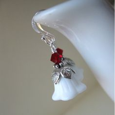 milk glass earrings