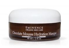 This dreamy dessert of a masque is a bonafide treat for your skin. Eminence Chocolate Mousse Hydration Masque nourishing for all skin types. Cocoa, Macadamia Nut Oil, and Vitamin E leave skin soft, smooth and supple.