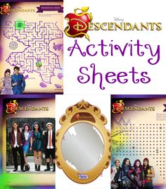 If you have Disney Descendants lovers in your house, you are going to love today's post.  It is filled with all kinds of activity sheets – from mazes, to mad lib-style sheets, and more.  Print these out, pop the movie in, and have fun completing them while watching the movie!Challenge your friend to a dots …