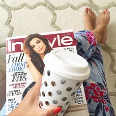 Sunday morning getting started with a my fav August month issue read & a great homemade cup of fresh brewed coffee from Belgium. ☕️