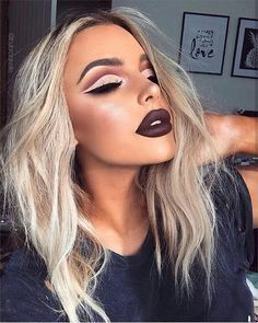 Love her lip color and cut crease!