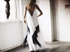 Vestido blanco con flecos!