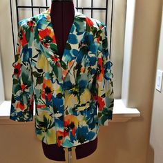 Notations Multi-color jacket Multi-colored jacket.  Wore one time. Notations Jackets & Coats Blazers