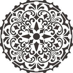 Wall stencil bally mandala stencil, furniture stencil, f Moroccan Stencil, Damask Stencil, Stencil Patterns, Stencil Painting, Stencil Designs, Stenciling, Bird Stencil, Faux Painting, Stenciled Floor