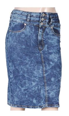 Tabeez Women's Acid Wash Denim Straight Knee-Length Pencil Skirt >>> You can get more details by clicking on the image.