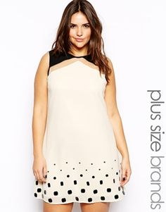 Mod style black and white plus size dress! i love!