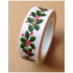 Washi Tape - Festive Holly Leaves 11yards WT531