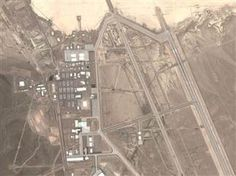 CIA acknowledges existence of Area 51 in newly declassified documents - @AA  Photo: A satellite image shows the salt flat known as Groom Lake and its associated airstrip facilities at Nevada's Area 51. (DigitalGlobe / Google Maps)
