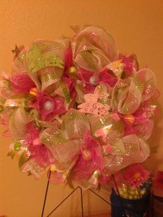 12' Easter Wreath Pink and green