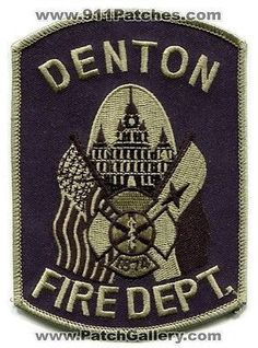 Denton Fire Department Dept Rescue EMS Patch Texas TX Patches Subdued Tactical